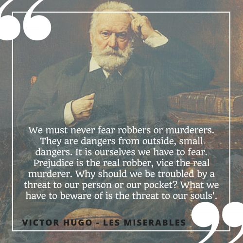 We must never fear robbers or murderers. They are dangers from outside, small